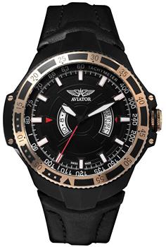 Швейцарские наручные  мужские часы Aviator M.1.01.6.002.4. Коллекция MIG-29 GMT