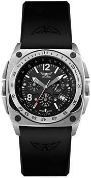 Швейцарские наручные  мужские часы Aviator M.2.04.0.009.6. Коллекция Mig-29 Cockpit Chrono