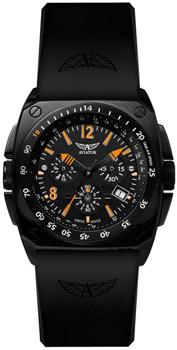 Швейцарские наручные  мужские часы Aviator M.2.04.5.070.6. Коллекция Mig-29 Cockpit Chrono