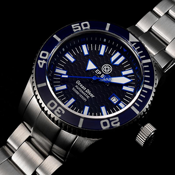 Швейцарские наручные  мужские часы Deep Blue ODBLU. Коллекция Ocean Diver