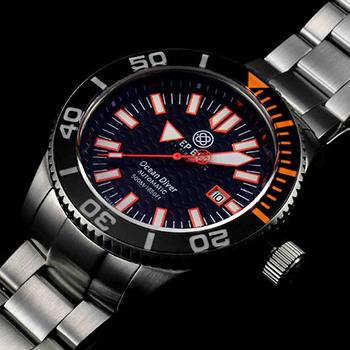 Швейцарские наручные  мужские часы Deep Blue ODORG. Коллекция Ocean Diver
