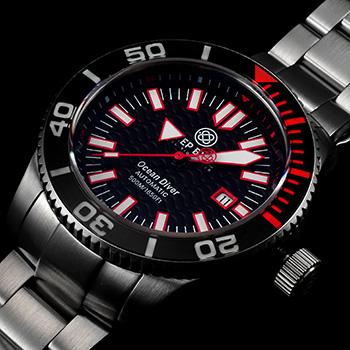 Швейцарские наручные  мужские часы Deep Blue ODRED. Коллекция Ocean Diver