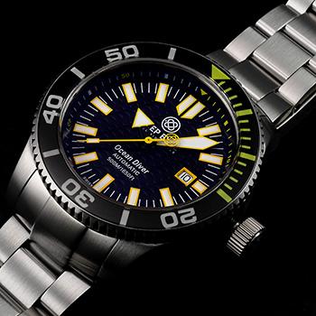 Швейцарские наручные  мужские часы Deep Blue ODYEL. Коллекция Ocean Diver