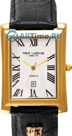 Мужские наручные швейцарские часы в коллекции Rectangular Philip Laurence