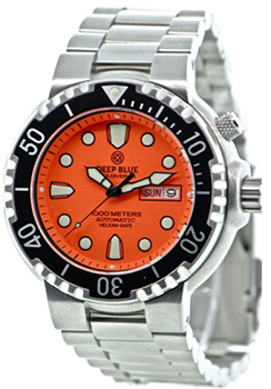 Швейцарские наручные  мужские часы Deep Blue PSD1KORG. Коллекция Sea Diver
