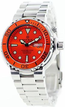 Швейцарские наручные  мужские часы Deep Blue PSND1KORG. Коллекция Sun Diver III