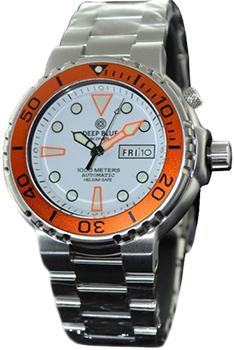 Швейцарские наручные  мужские часы Deep Blue PSND1KWHTORG. Коллекция Sun Diver III