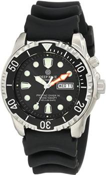 Швейцарские наручные  мужские часы Deep Blue PTD1KBLK. Коллекция Protac Diver