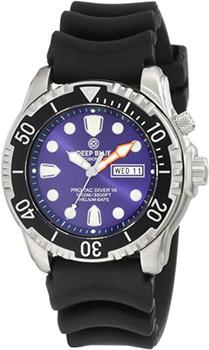 Швейцарские наручные  мужские часы Deep Blue PTD1KBLU. Коллекция Protac Diver