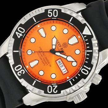 Швейцарские наручные  мужские часы Deep Blue PTD1KORG. Коллекция Protac Diver