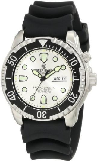 Швейцарские наручные  мужские часы Deep Blue PTD1KWHT. Коллекция Protac Diver