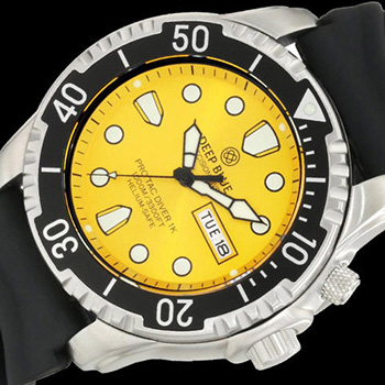 Швейцарские наручные  мужские часы Deep Blue PTD1KYEL. Коллекция Protac Diver