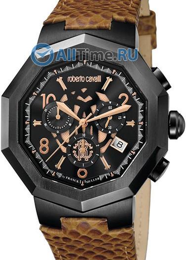 Мужские наручные швейцарские часы в коллекции Signature Roberto Cavalli by Franck Muller