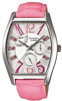 Японские наручные  женские часы Casio SHE-3026L-7A2. Коллекция Sheen