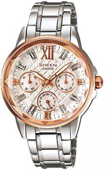Японские наручные  женские часы Casio SHE-3029SG-7A. Коллекция Sheen