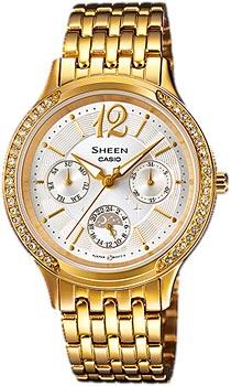 Японские наручные  женские часы Casio SHE-3030GD-7A. Коллекция Sheen
