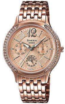 Японские наручные  женские часы Casio SHE-3030PG-9A. Коллекция Sheen