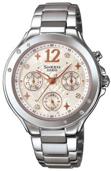 Японские наручные  женские часы Casio SHE-3032D-7A. Коллекция Sheen
