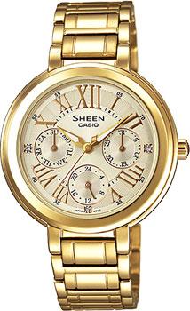 Японские наручные  женские часы Casio SHE-3034GD-9A. Коллекция Sheen