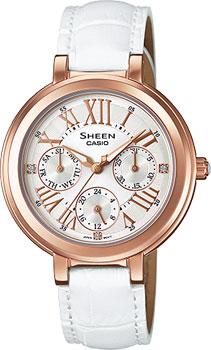 Японские наручные  женские часы Casio SHE-3034GL-7A. Коллекция Sheen