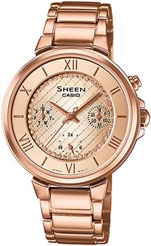 Японские наручные  женские часы Casio SHE-3040PG-9A. Коллекция Sheen