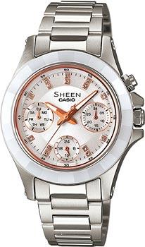 Японские наручные  женские часы Casio SHE-3503SG-7A. Коллекция Sheen