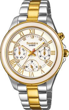 Японские наручные  женские часы Casio SHE-3507SG-7A. Коллекция Sheen