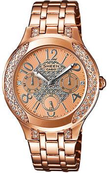 Японские наручные  женские часы Casio SHE-3803PG-9A. Коллекция Sheen