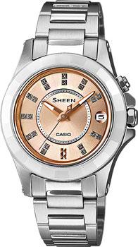 Японские наручные  женские часы Casio SHE-4509SG-4A. Коллекция Sheen