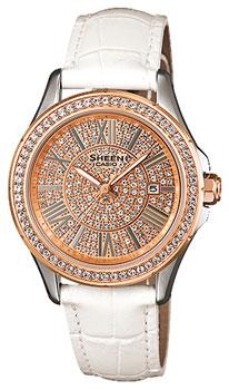 Японские наручные  женские часы Casio SHE-4510GL-9A. Коллекция Sheen