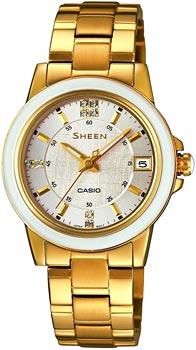 Японские наручные  женские часы Casio SHE-4512G-7A. Коллекция Sheen