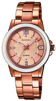 Японские наручные  женские часы Casio SHE-4512PG-9A. Коллекция Sheen