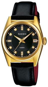 Японские наручные  женские часы Casio SHE-4518GDL-1A. Коллекция Sheen