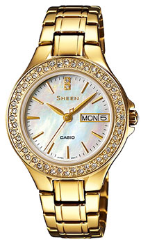 Японские наручные  женские часы Casio SHE-4800G-7A. Коллекция Sheen