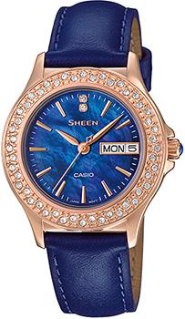 Японские наручные  женские часы Casio SHE-4800GL-2A. Коллекция Sheen