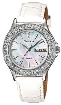 Японские наручные  женские часы Casio SHE-4800L-7A. Коллекция Sheen