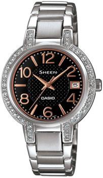 Японские наручные  женские часы Casio SHE-4804D-1A. Коллекция Sheen