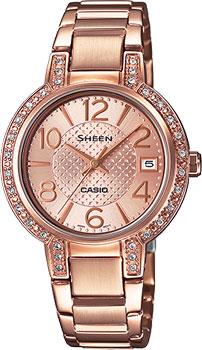 Японские наручные  женские часы Casio SHE-4804PG-9A. Коллекция Sheen