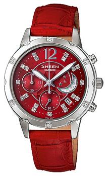 Японские наручные  женские часы Casio SHE-5017L-4A. Коллекция Sheen