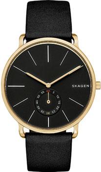 Швейцарские наручные  мужские часы Skagen SKW6217. Коллекция Leather