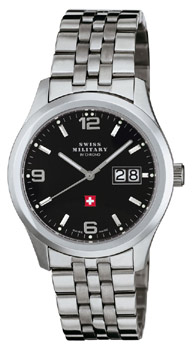 Швейцарские наручные  мужские часы Swiss military SM34004.01. Коллекция Большая дата
