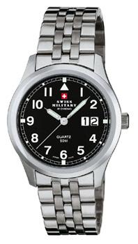 Швейцарские наручные  мужские часы Swiss military SM34004.04. Коллекция Большая дата