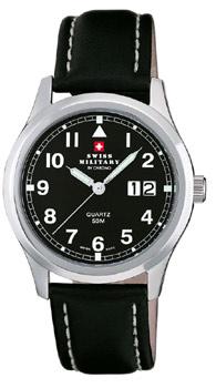 Швейцарские наручные  мужские часы Swiss military SM34004.09. Коллекция Большая дата