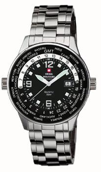 Швейцарские наручные  мужские часы Swiss military SM34007.01. Коллекция Worldtraveller