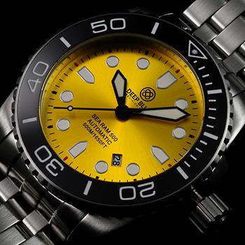 Швейцарские наручные  мужские часы Deep Blue SRABE. Коллекция Sea Ram Automatic