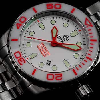 Швейцарские наручные  мужские часы Deep Blue SRAWC. Коллекция Sea Ram Automatic