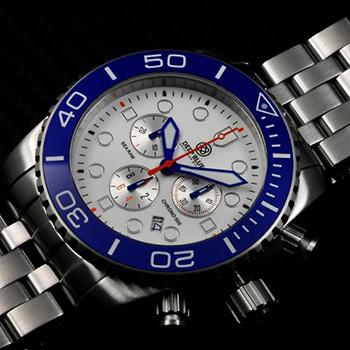 Швейцарские наручные  мужские часы Deep Blue SRCBA. Коллекция Sea Ram Chronograph