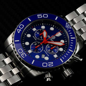 Швейцарские наручные  мужские часы Deep Blue SRCBB. Коллекция Sea Ram Chronograph