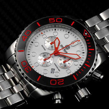 Швейцарские наручные  мужские часы Deep Blue SRCBC. Коллекция Sea Ram Chronograph