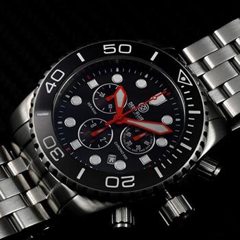 Швейцарские наручные  мужские часы Deep Blue SRCBD. Коллекция Sea Ram Chronograph